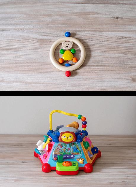 知育玩具やおもちゃのレンタル・サブスク キッズラボラトリーの0歳のおもちゃのプランニング例