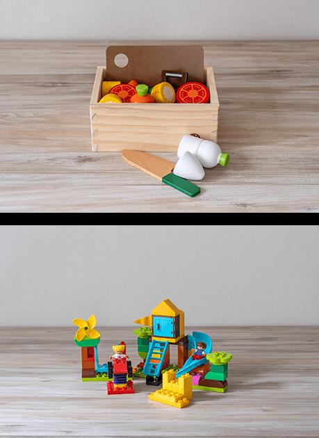 知育玩具やおもちゃのレンタル・サブスク キッズラボラトリーの2歳のおもちゃのプランニング例